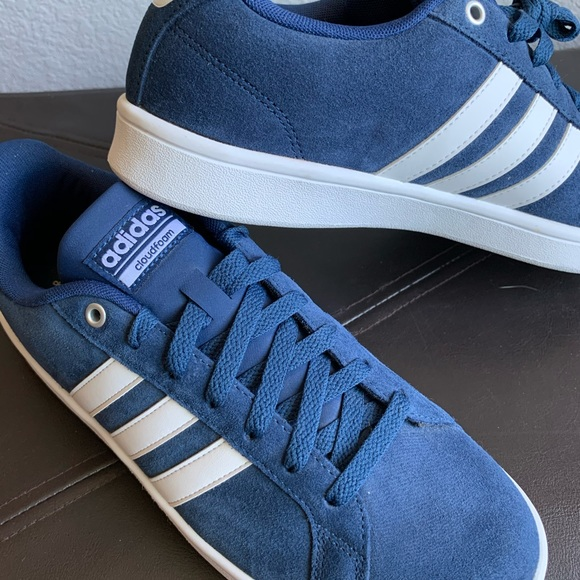 New Adidas Neo blue suede shoes